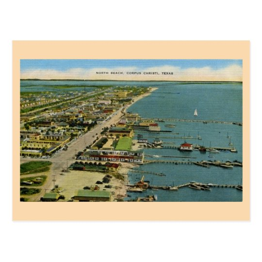 Vintage North Beach, Corpus Christi, Texas Postcard