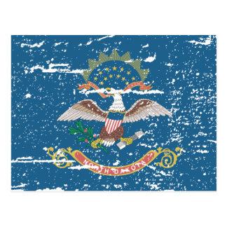 Vintage NORTH DAKOTA Flag Postcard