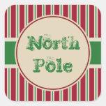Vintage North Pole Stickers