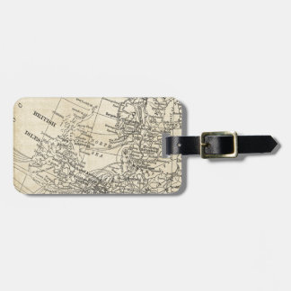 Vintage North Sea Map British Isles UK Region Luggage Tag
