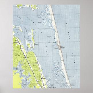 Vintage Northern Outer Banks Map (1940) Poster