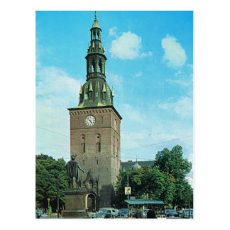 Vintage Norway,  Oslo Cathedral Postcard
