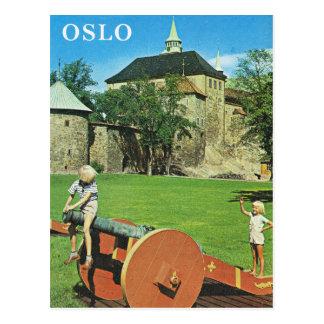 Vintage Norway,  Oslo, Fortifications Postcard