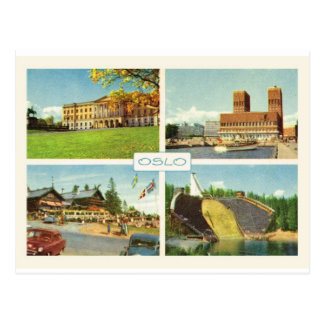 Vintage Norway, Oslo, multiview Postcard