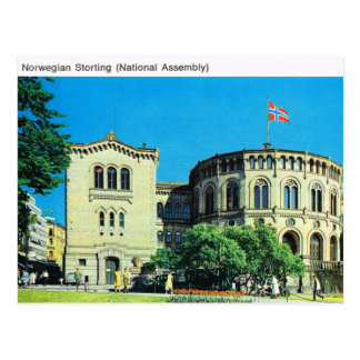 Vintage Norway,  Oslo, National Assembly Postcard