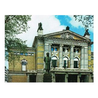 Vintage Norway,  Oslo, National Theatre Postcard