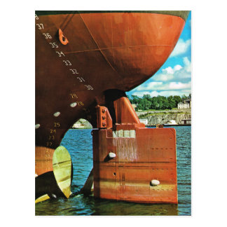 Vintage Norway,  Oslo, Ship in the harbour Postcard