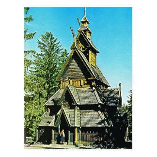 Vintage Norway,  Oslo, Stave Church Postcard