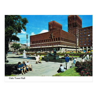 Vintage Norway,  Oslo Town Hall Postcard