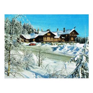Vintage Norway,  Oslo, Winter scene Postcard