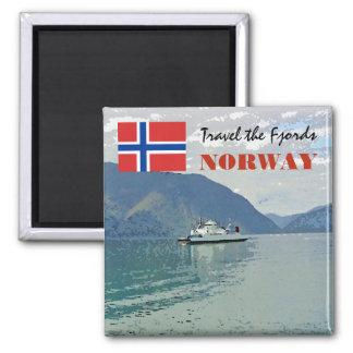 Vintage Norway Scandinavia Fjords travel souvenir Magnet