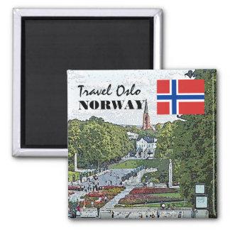 Vintage Norway Scandinavia Oslo Vigeland travel Magnet