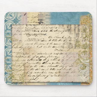 vintage note collage mouse pads