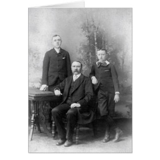 Vintage Notecard Greeting Card Father and Sons