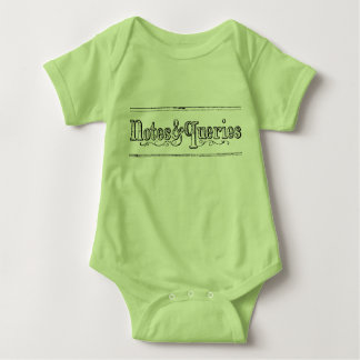 Vintage Notes And Queries Typograph Baby Bodysuit