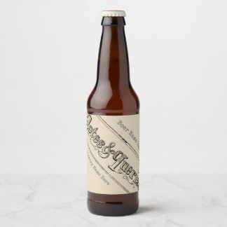 Vintage Notes And Queries Typograph Beer Bottle Label