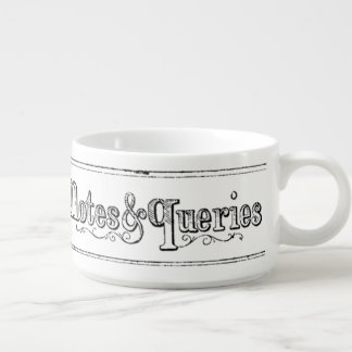 Vintage Notes And Queries Typograph Chili Bowl