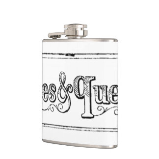 Vintage Notes And Queries Typograph Flasks