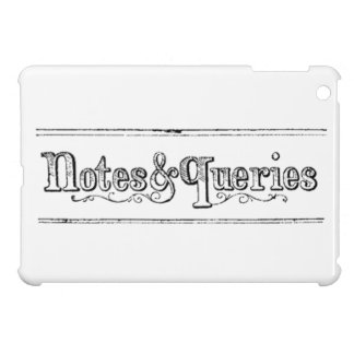 Vintage Notes And Queries Typograph iPad Mini Case