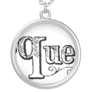 Vintage Notes And Queries Typograph Silver Plated Necklace