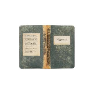 Vintage Notes Pocket Moleskine Notebook