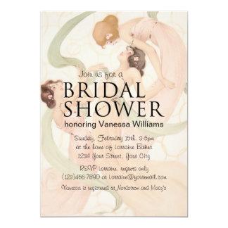 Vintage Nouveau Mayflies Bridal Shower Card