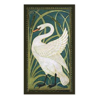 Vintage Nouveau Swan Business Card