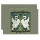 Vintage Nouveau Swans Wedding Invitation 5