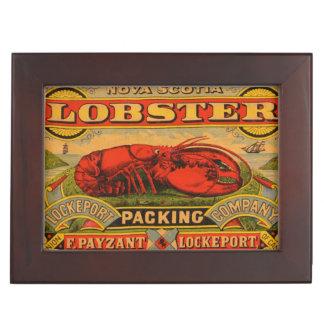 Vintage Nova Scotia Lobster Keepsake Box