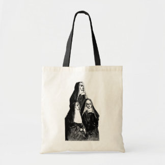 Vintage Nun Illustration Tote Bag