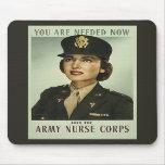 Vintage Nurse Corps Mousepad