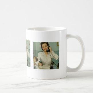 Vintage Nurse on the Phone Coffee Mug