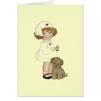 Vintage Nurse With Puppy T-shirts and Gifts Card