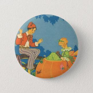 Vintage Nursery Rhyme, Peter Peter Pumpkin Eater 2 Inch Round Button