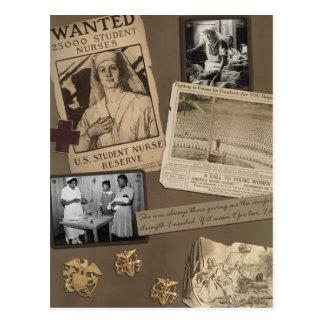 Vintage Nursing - Nurses Scrapbook Postcard