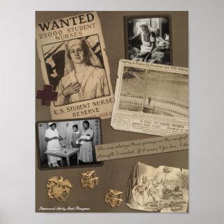 "Vintage ""Nursing"" Scrapbook Print"