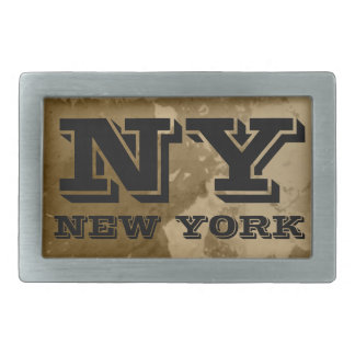 Vintage NY belt buckle | New York Typography