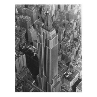 Vintage NYC ~ Aerial View Empire St Bldg/McCreey's Postcard