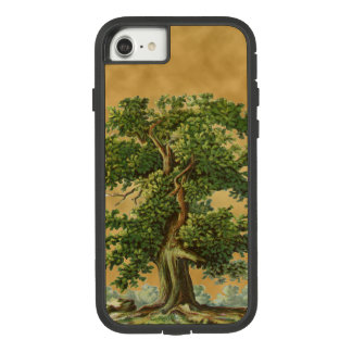 Vintage Oak Tree on Faux Parchment iPhone Case
