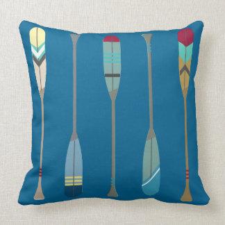 Vintage Oars Throw Pillow
