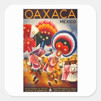 Vintage Oaxaca Mexico Square Sticker