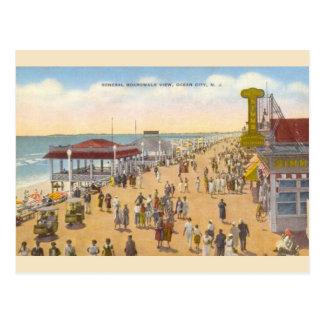 Vintage Ocean City New Jersey Boardwalk Postcard