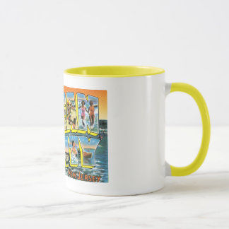 Vintage Ocean City, NJ Postcard Mugs, Steins