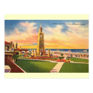 Vintage Ocean Front Park Daytona Beach Postcard