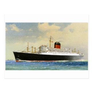 Vintage Ocean Liner Postcard