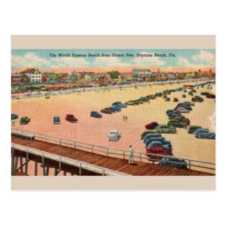 Vintage Ocean Pier Daytona Beach Postcard