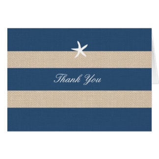 Vintage Ocean Stripes Thank You Card