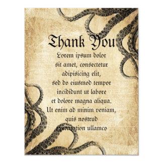 Vintage Octopus Card