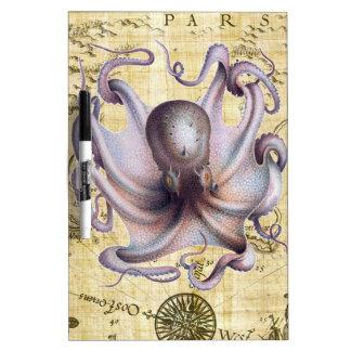 Vintage octopus dry erase board