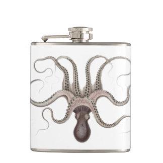 Vintage Octopus Illustration Hip Flask